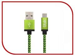 (1013443) USB кабель micro Ubik UM03 Cord 2A (1,2m) green