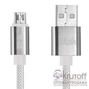 (1013442) USB кабель micro Ubik UM01 Carbon 2A (1,2m) white