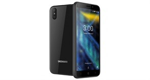 (1013503) Смартфон Doogee X50 Black, 5'' 960x480, 1.3GHz, 4 Core, 1GB RAM, 8GB, up to 128GB flash, 5Mpix+0.3Mpix/5Mpix, 2 Sim, 2G, 3G, BT, Wi-Fi, GPS, Micro-USB, 2000mAh, Android 8.1 Oreo версия GO, 142g, 139x67.4x9mm