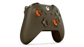 (1013574) Геймпад Microsoft Xbox One + Беспроводной ПК адаптер черный USB Беспроводной виброотдача обратная св