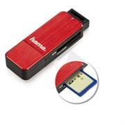 (1013554) Устройство чтения карт памяти USB3.0 Hama H-123900 красный