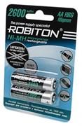 (1013648) Аккумулятор предзаряженный Robiton RTU R6 2600mAh Ni-MH BL-2