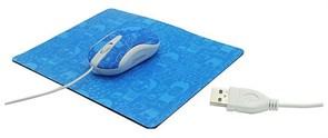 (1013645) Комплект OXION мышь проводная 800 DPI, 3кн, USB+коврик 180*220 мм (OммP03)(40)