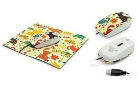 (1013644) Комплект OXION мышь проводная 800 DPI, 3кн, USB+коврик 180*220 мм (OммP02)(40)