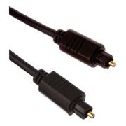 (1013625) OXION оптический кабель Toslink 1,5 м OD 2.2 чёрный, блистер