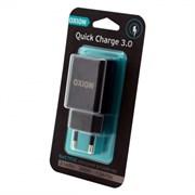 (1013623) Быстрое сетевое зарядное устройство OXION QC 3.0 18Watt, 1USB чёрный