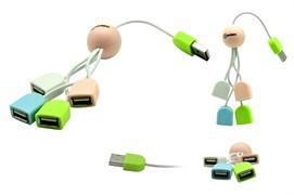 (1013619) USB-хаб OXION белый, на 4 порта, USB 2.0 (OHB005)(125)