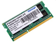 (1013670) Модуль памяти для ноутбука 8GB PC12800 DDR3L SO PSD38G1600L2S PATRIOT