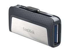 (1013666) Флеш Диск Sandisk 16Gb Ultra Dual SDDDC2-016G-G46 USB3.0 серый/узор