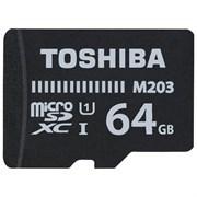 (1012898) Флеш карта microSDXC 64Gb Class10 Toshiba THN-M203K0640EA M203 + adapter