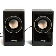 (1013931) Акустическая система 2.0  Dialog Stride AST-15UP Black  (6 Вт., AUX, регулятор громкости, питание USB, деревянный корпус)