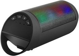 (1013902) Портативная беспроводная колонка Ginzzu GM-999G (3Вт, 100Гц-18КГц, 800мАч, Handsfree, AUX, USB-flash/TF-card, FM-радио, цветомузыка)