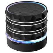 (1013897) Портативная беспроводная колонка Ginzzu GM-880B (3Вт, 100Гц-20КГц, 300мАч, AUX, microSD, USB-flash, FM-радио, светодиодная подсветка музыкального сопровождения, цвет: черный)