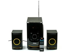 (1013861) Акустическая система 2.1  Dialog Progressive AP-208 BLACK (60 Вт, Bluetooth, FM, USB, microSD, AUX, ПДУ)