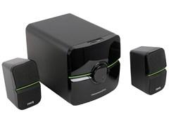 (1013860) Акустическая система 2.1  Dialog Progressive AP-203 BLACK (48 Вт, FM, USB, microSD, AUX, ПДУ)