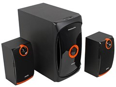(1013859) Акустическая система 2.1  Dialog Progressive AP-200 BLACK (60 Вт, FM, USB, microSD, AUX, ПДУ)