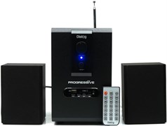 (1013858) Акустическая система 2.1  Dialog Progressive AP-150 Black {акустические колонки 2.1, 5W+2*2,5W RMS, USB+SD reader}