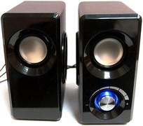 (1013856) Акустическая система 2.0  Dialog AST-25UP Chery  (6 Вт., AUX, регулятор громкости, питание USB, деревянный корпус)
