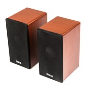 (1013854) Акустическая система 2.0  Dialog AST-20UP Cherry (6 Вт., AUX, регулятор громкости, питание USB, деревянный корпус)