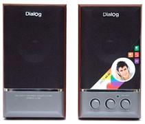 (1013851) Акустическая система 2.0 Dialog AD-05 cherry (20 Вт., AUX, регулятор громкости,  деревянный корпус)