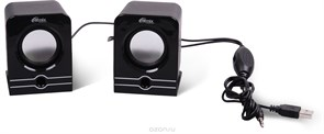 (1013850) Акустическая система 2.0 RITMIX SP-2040 Black (5 Вт., AUX, регулятор громкости, питание USB)