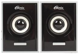 (1013846) Акустическая система 2.0 RITMIX SP-2090w Black (6 Вт., AUX, регулятор громкости, питание USB, деревянный корпус)