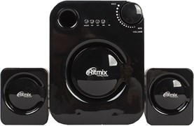 (1013842) Акустическая система 2.1 RITMIX SP-2160BTH Black (11 Вт, Bluetooth, FM, USB, microSD, AUX, ПДУ)