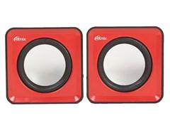 (1013839) Акустическая система 2.0 RITMIX SP-2020 Black+Red (5 Вт., AUX, регулятор громкости, питание USB)