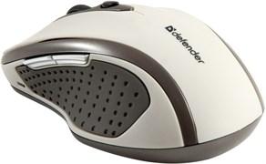 (115578) Мышь беспроводная Defender Safari MM-675 Nano Sand, 800/1200/1600 dpi, бежевая (52677)