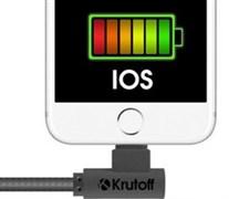 (1010668) USB кабель Lightning Krutoff U3-100i Cloth (1m) черный