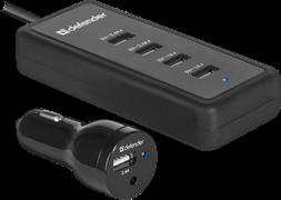 (220407)  Автомобильное зарядное устройство Defender ACA-02, 5*USB, 9.2А (83568)