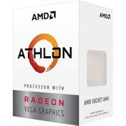 (1013945) Процессор AMD Athlon 200GE AM4 (YD200GC6FBBOX) (3.2GHz/100MHz/Radeon Vega 3) Box