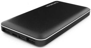(1014001) Портативный аккумулятор Гарнизон GPB-710, 10000мА/ч, 2 USB, type-c, lightning,  2.4A, черный