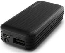 (1013996) Портативный аккумулятор Гарнизон GPB-104, 4000 мА/ч, 1 USB, 1A, фонарик, черный