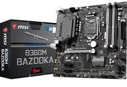 (1014066) Материнская плата MSI H370M BAZOOKA Soc-1151v2 Intel H370 4xDDR4 mATX AC`97 8ch(7.1) GbLAN RAID+DVI+HDMI