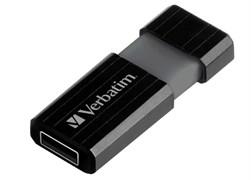 (1014124) Флеш Диск Verbatim 16Gb PinStripe 49063 USB2.0 черный