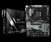 (1014014) Материнская плата Asrock B450 PRO4 Soc-AM4 AMD B450 4xDDR4 ATX AC`97 8ch(7.1) GbLAN RAID+VGA+HDMI+DP