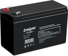 (1014114) Exegate EP129858RUS Аккумуляторная батарея  Exegate EG7-12 / EXG1270, 12В 7Ач, клеммы F2 (универсальные)