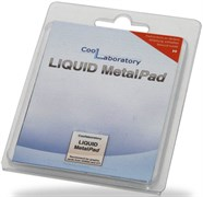 (164675)  Термоинтерфейс Coollaboratory Liquid MetalPad CL-MP-1G, 1 пластина для GPU (20x20 мм)