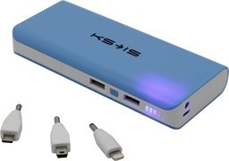 (1002824) Универсальная батарея KS-is (KS-229Blue) 16800мАч для порт цифр техники, фонарь, синяя