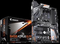 (1014255) Материнская плата Gigabyte B450 AORUS ELITE Soc-AM4 AMD B450 4xDDR4 ATX AC`97 8ch(7.1) GbLAN RAID+DV