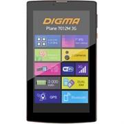 "(1014342) Планшет Digma Plane 7012M 3G MT8321 (1.3) 4C, RAM1Gb, ROM8Gb 7"" IPS 1024x600, 3G, Android 7.0, красный, черный, 2Mpix, 0.3Mpix, BT, GPS, WiFi, Touch, microSD 64Gb, minUSB, 2800mAh"