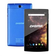 "(1014341) Планшет Digma Plane 7012M 3G MT8321 (1.3) 4C, RAM1Gb, ROM8Gb 7"" IPS 1024x600, 3G, Android 7.0, голубой, черный, 2Mpix, 0.3Mpix, BT, GPS, WiFi, Touch, microSD 64Gb, minUSB, 2800mAh"