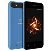"(1014334) Смартфон Digma Linx Atom 3G 4Gb 512Mb синий 3G 2Sim 4"" TN 480x800 And8.1 2Mpix 802.11bgn BT"