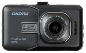 (1014307) Видеорегистратор Digma FreeDrive 108 DUAL черный 1080x1920 1080p 140гр. GP2248