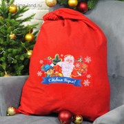"""Мешок Деда Мороза """"С Новым годом!"""", ёжик, 60 х 90 см"""