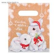 Пакет подарочный полиэтиленовый «Счастья в Новом году», 17 × 20 см