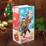 """Щенячий патруль. Щенячий патруль. Пакет подарочный без ручек """"Веселого Нового года!"""", 10х19,5х7 см 3217427"""
