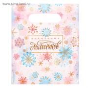 Пакет подарочный полиэтиленовый «Волшебных моментов», 17 × 20 см