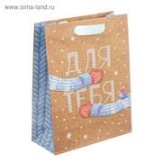 Пакет крафтовый вертикальный «Теплые варежки», 12 × 15 × 5,5 см